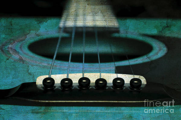 Photograph - Edgy Abstract Eclectic Guitar 1 by Andee Design