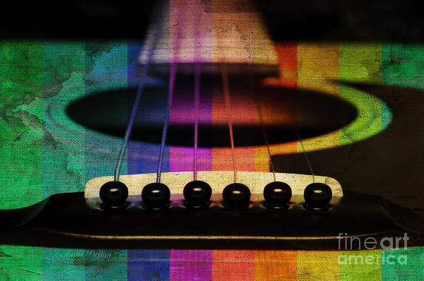 Photograph - Edgy Abstract Eclectic Guitar 20 by Andee Design