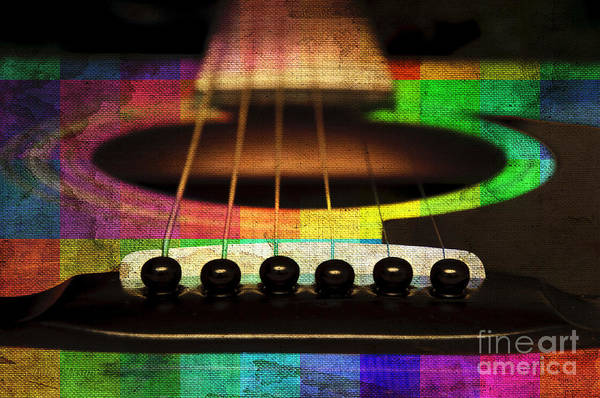 Photograph - Edgy Abstract Eclectic Guitar 21 by Andee Design