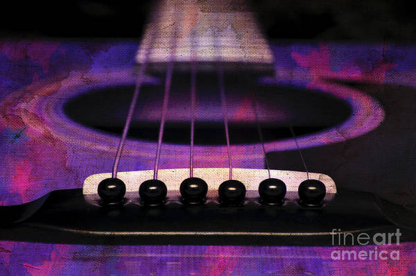 Photograph - Edgy Abstract Eclectic Guitar 27 by Andee Design