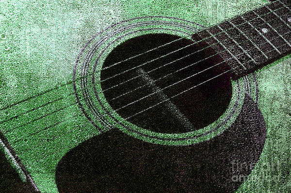 Photograph - Edgy Guitar Green 2  by Andee Design