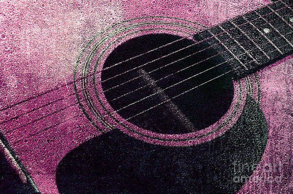 Photograph - Edgy Guitar Pink 2  by Andee Design