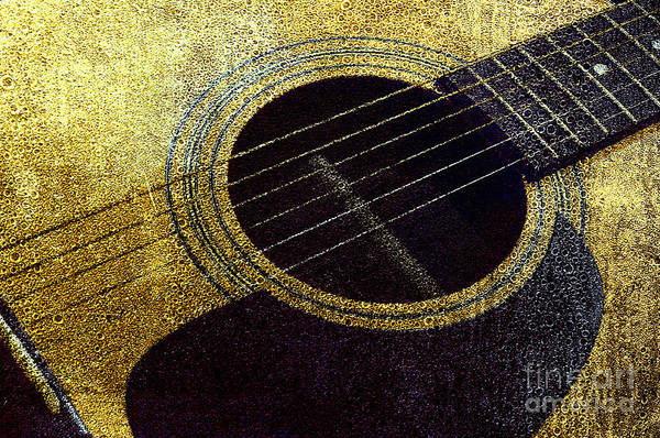 Photograph - Edgy Guitar Yellow 2 by Andee Design