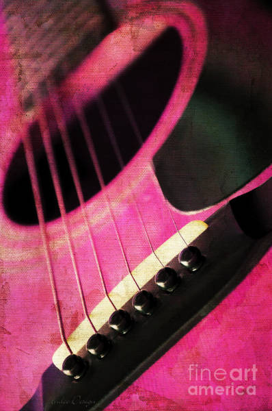 Photograph - Edgy Pink Guitar  by Andee Design