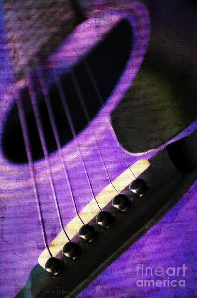 Photograph - Edgy Purple Guitar  by Andee Design