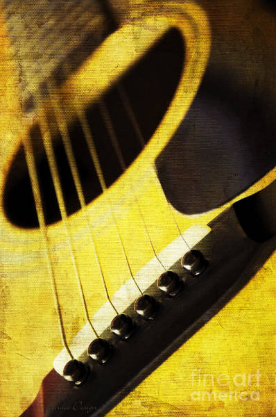Photograph - Edgy Yellow Guitar  by Andee Design