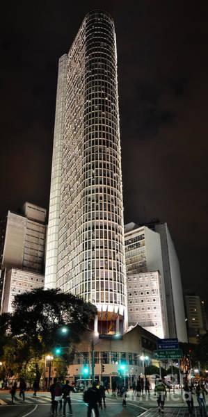 Photograph - Edificio Italia By Night by Carlos Alkmin