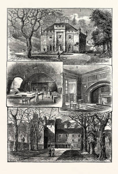 Edinburgh 1. The Hermitage Braid 2. Craig House 3 Art Print by English School