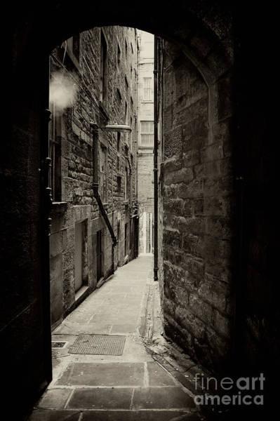 Wall Art - Photograph - Edinburgh Alley Sepia by Jane Rix