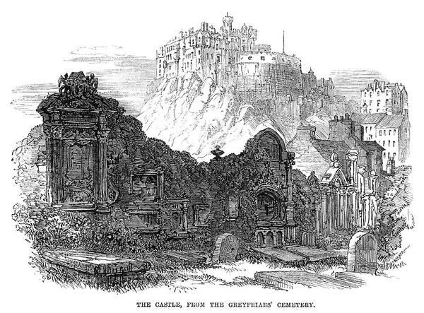 Wall Art - Painting - Edinburgh Castle, 1864 by Granger