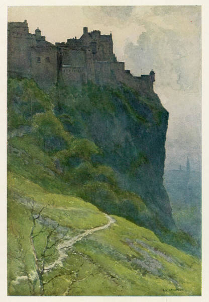 Early 20th Century Drawing - Edinburgh Castle A Rather Sinister View by Mary Evans Picture Library