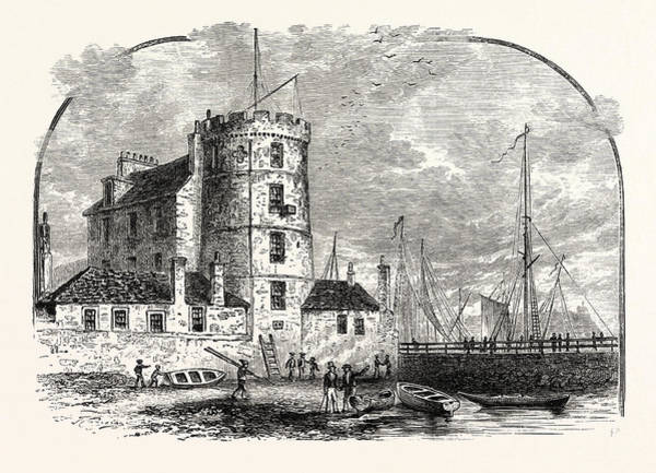 Wall Art - Drawing - Edinburgh Signal Tower Leith Harbour 1829 by English School