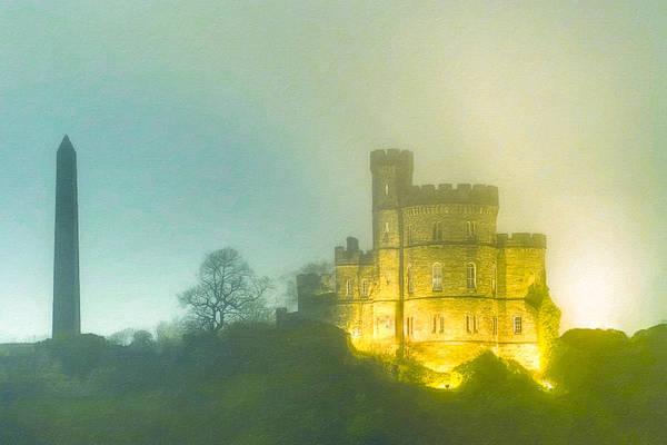 Photograph - Edinburgh's Calton Hill In A Fog by Mark Tisdale