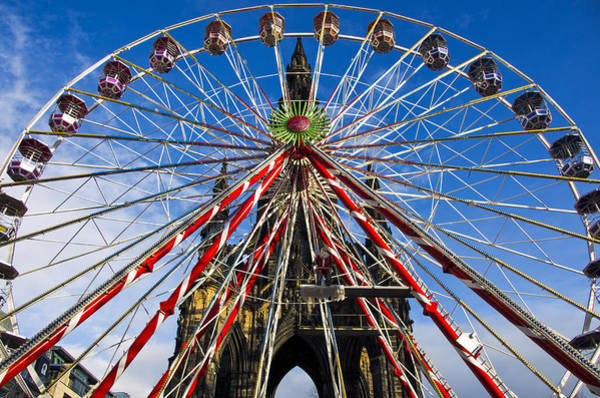 Photograph - Edinburgh's Christmas Ferris Wheel by Ross G Strachan
