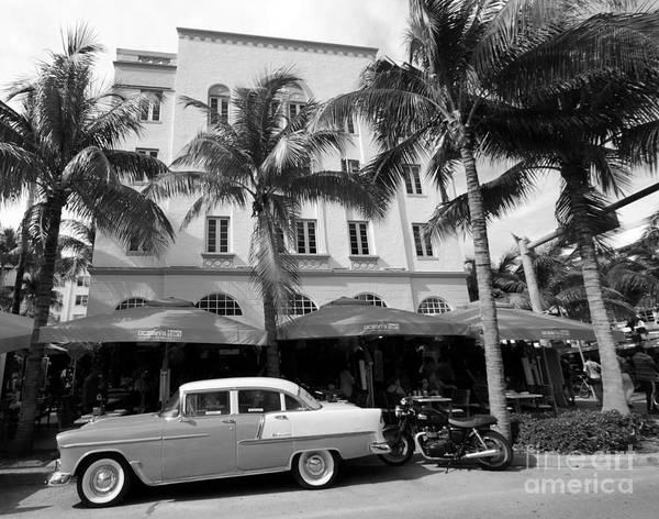 Photograph - Edison Hotel South Beach Bw by Steven Spak