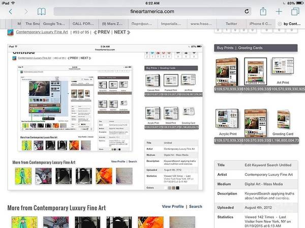 Description Digital Art - Visitors Hi Edit Keyword Search Untitled by Contemporary Luxury Fine Art