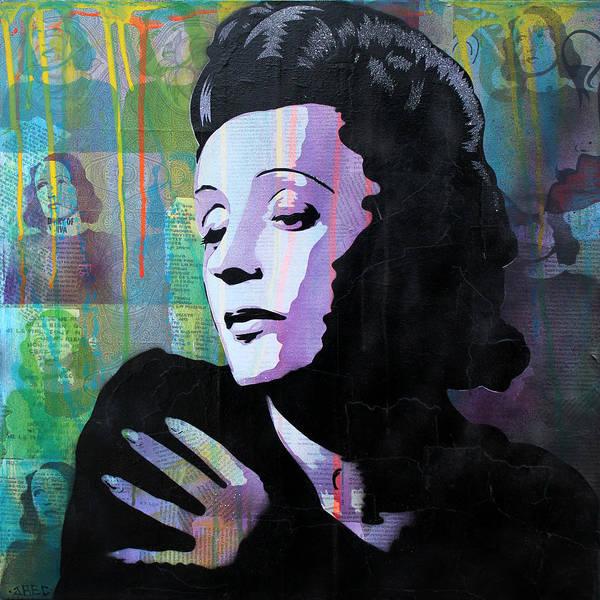 Dope Painting - Edith Piaf by Josh Cardinali
