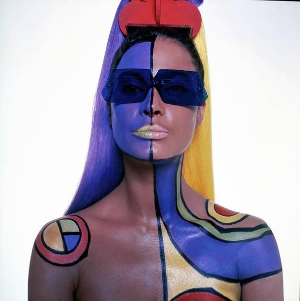 Wall Art - Photograph - Editha Dussler Wearing Body Paint by Horst P. Horst