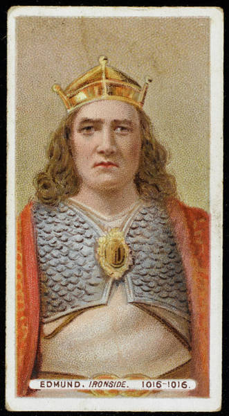 Wall Art - Drawing - Edmund II Ironside (993?-1016)  King by Mary Evans Picture Library