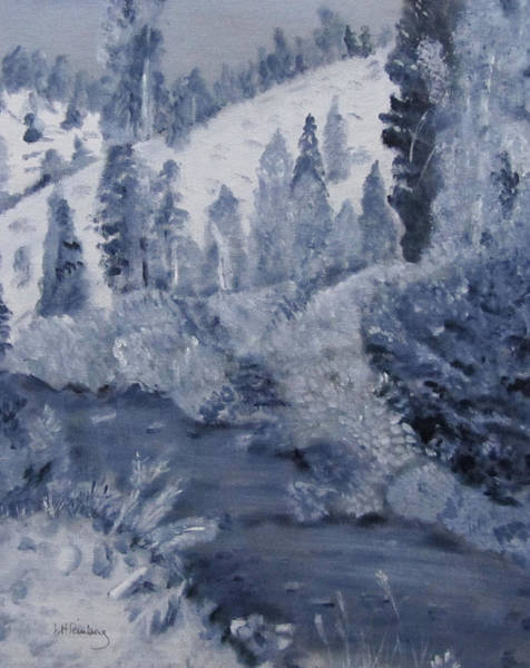 Painting - Edna Creek Monochrome by Linda Feinberg