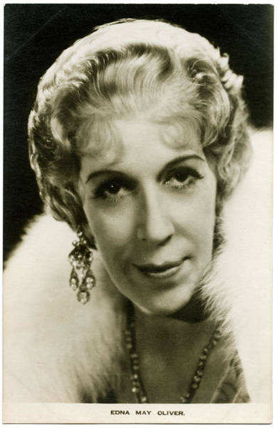Wall Art - Photograph - Edna May Oliver (edna May Cox-oliver) by Mary Evans Picture Library