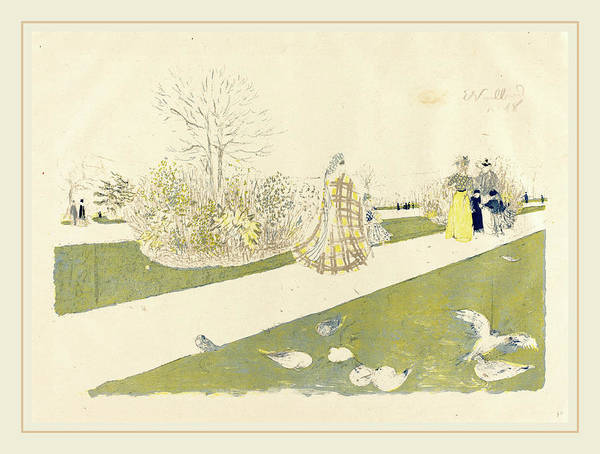 Wall Art - Drawing - Edouard Vuillard French, 1868-1940, The Tuileries Garden Le by Litz Collection