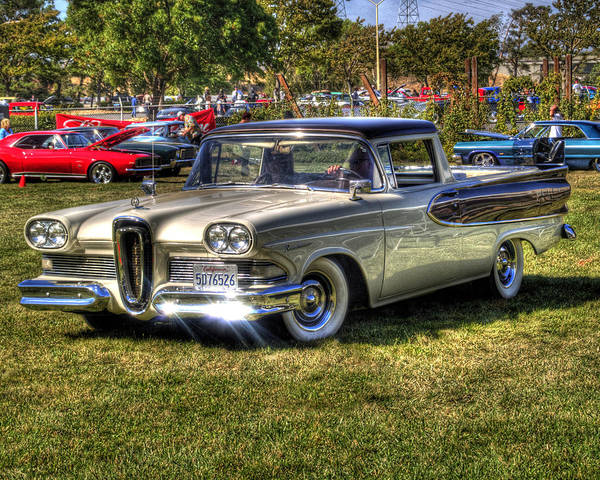 Car Show Photograph - Edsel Ranchero by Bill Gallagher