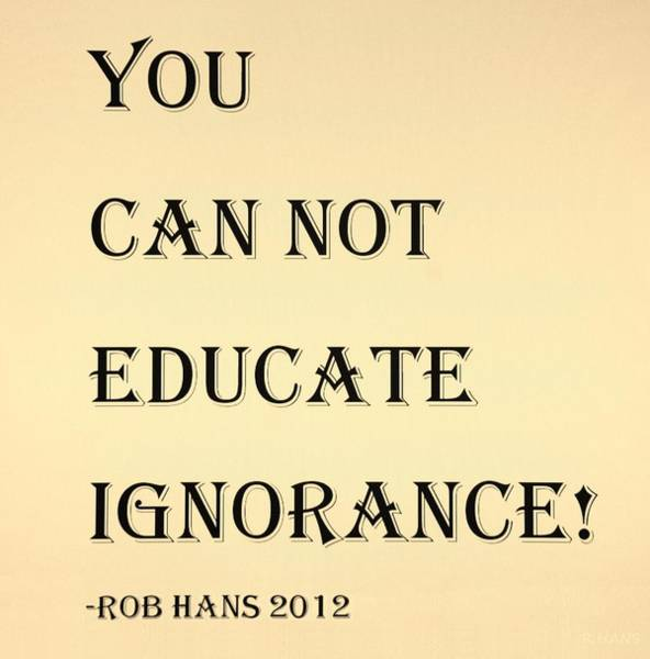 Capable Photograph - Educate Quote In Sepia by Rob Hans