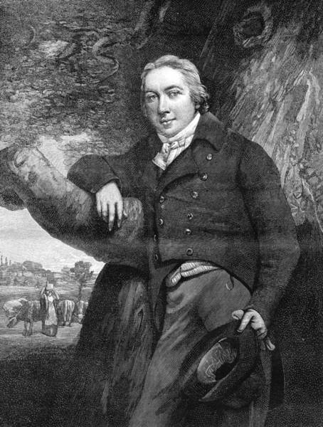 1889 Photograph - Edward Jenner by Collection Abecasis/science Photo Library