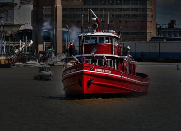 Fireboat Wall Art - Photograph - Edward M. Cotter by Jim Markiewicz