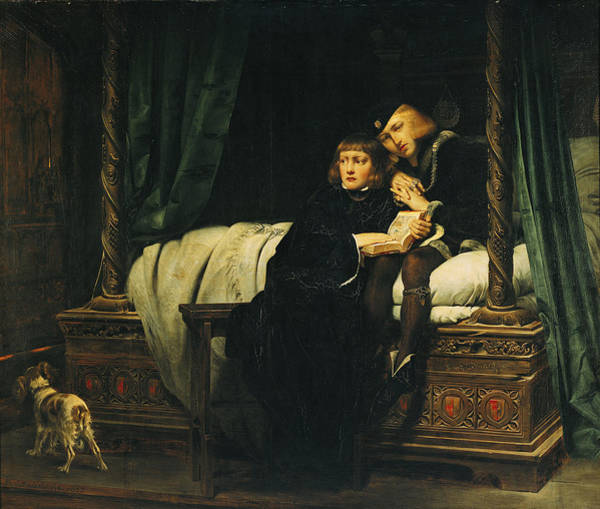 Iv Wall Art - Photograph - Edward V 1470-83 And Richard, Duke Of York In The Tower Les Enfants Dedouard 1830 Oil On Canvas See by Hippolyte Delaroche