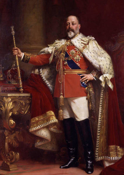 Artistry Painting - Edward Vii In Coronation Robes by Mountain Dreams
