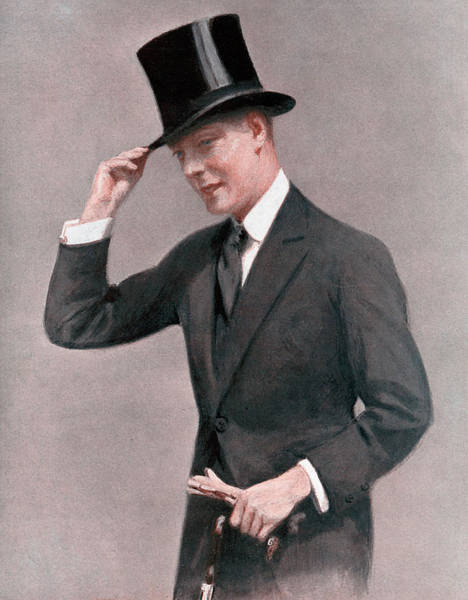 Wall Art - Drawing - Edward Viii In Top Hat, 'the World's by Mary Evans Picture Library
