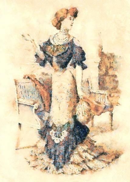 Digital Art - Edwardian Elegance by Charmaine Zoe