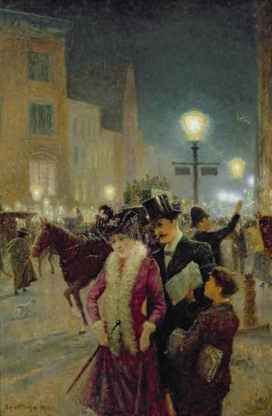 Traffic Painting - Edwardian London by Eugene Joseph McSwiney