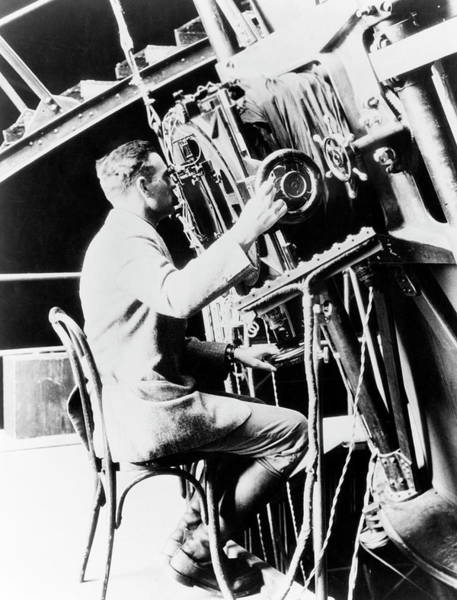Photograph - Edwin Hubble by Emilio Segre Visual Archives/american Institute Of Physics/science Photo Library