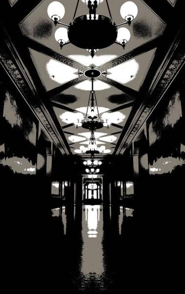 Digital Art - Eerie Hallway by Dan Sproul