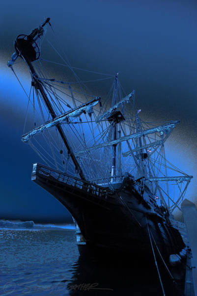 Eerie Light Over El Galeon Art Print