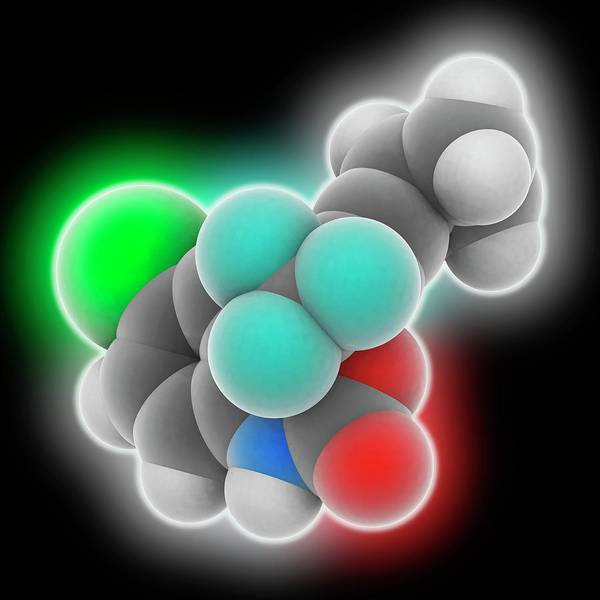 Syndrome Wall Art - Photograph - Efavirenz Drug Molecule by Laguna Design