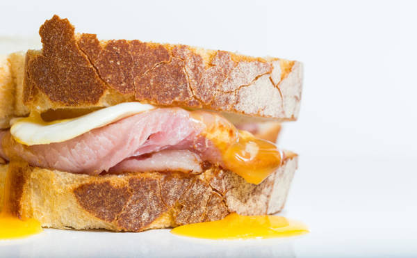 Photograph - Egg And Bacon Sandwich by Gary Gillette