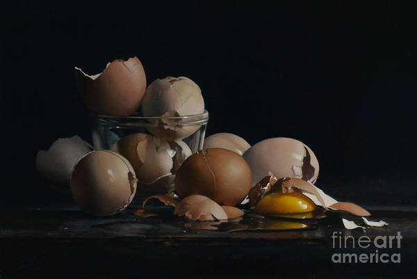 Wall Art - Painting - Egg And Shells No.5  by Lawrence Preston