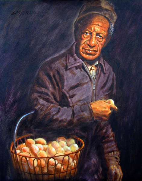 Wall Art - Painting - Egg Man by John Lautermilch