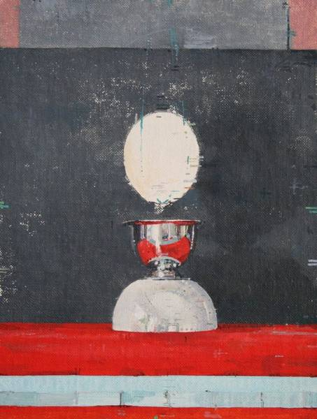 Egg Cup Photograph - Egg Over Red And Black by Charlie Millar