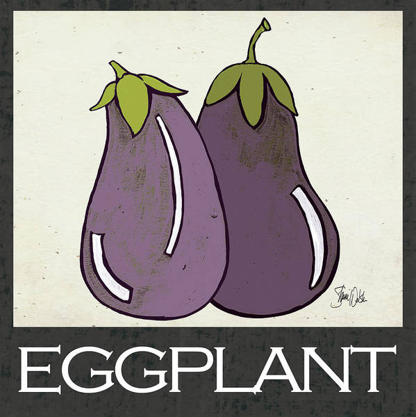 Kitchen Painting - Eggplant by Shanni Welsh