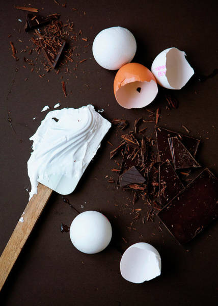 Vertical Line Photograph - Eggs For Meringue And Chocolate by Line Klein
