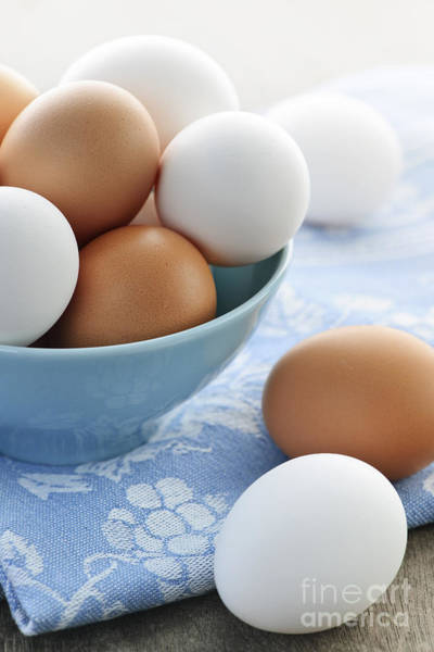 Photograph - Eggs In Bowl by Elena Elisseeva