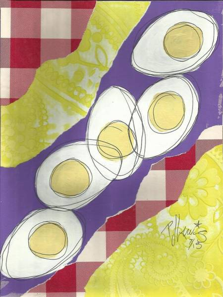 Egg Mixed Media - Eggs by PJ Lewis