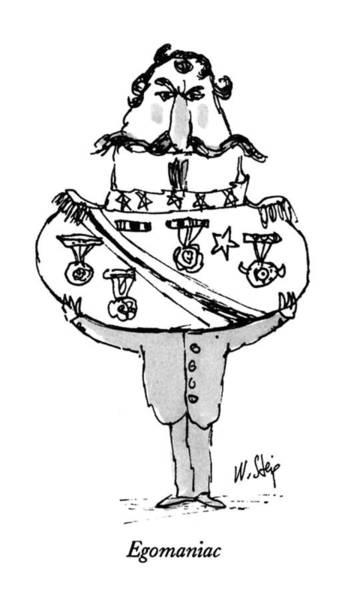 June 17th Drawing - Egomaniac by William Steig