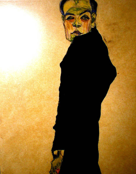 Painting - Egon Schiele Drawing by Celestial Images