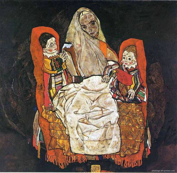 Painting - Egon Schiele Paintings by Celestial Images